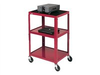 Bretford Adjustable Audio Visual Cart Cart for TV, overhead projector, VCR black