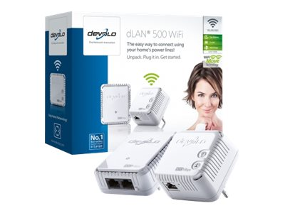 devolo dLAN 500 WiFi - Starter Kit - Bridge - HomePlug AV (HPAV) - 802.11b/g/n - 2,4 GHz