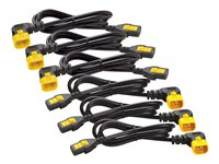 APC Power cable IEC 60320 C13 to IEC 60320 C14 10 A 2 ft 90° connector black