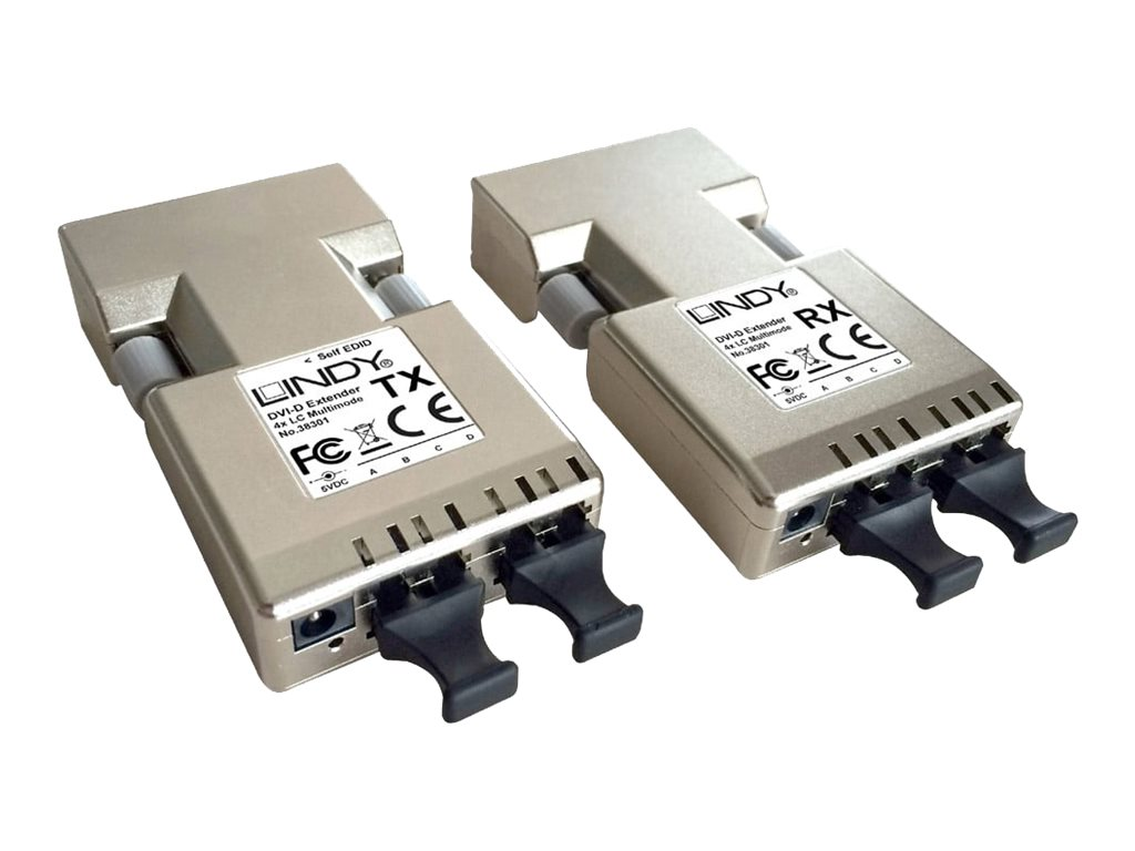 LINDY DVI-D Extender, Transmitter and Receiver - Video Extender - bis zu 500 m