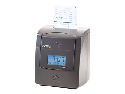 Pyramid 2650Pro Time clock printable time cards unlimited employees charcoal