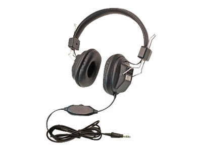 Califone 1534BK Headphones full size wired 3.5 mm jack (pack of 10