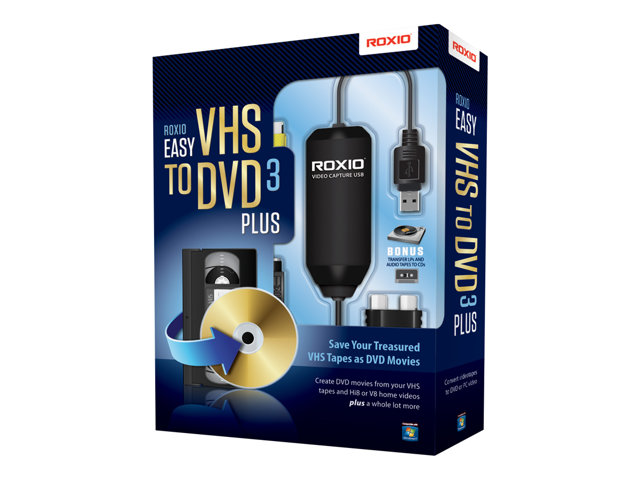Roxio Easy VHS to DVD 3 - Version boîte - 1 utilisateur - DVD - Win - Multi-Lingual