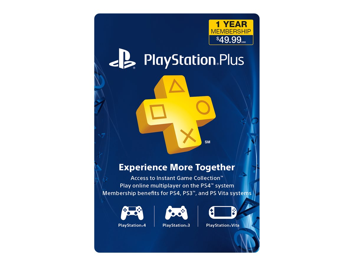 Sony PlayStation Plus - Sony PlayStation 3, Sony PlayStation Vita, Sony PlayStation 4 - subscription card (1 year)