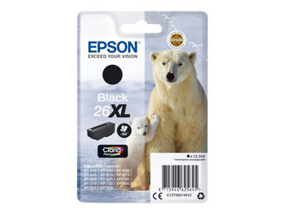 Epson 26XL - XL - sort - original - blækpatron