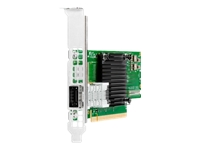 HPE InfiniBand HDR100/Ethernet 100Gb 1-port 940QSFP56 - Network adapter - PCIe 4.0 x16 low profile - 100Gb Ethernet / 100Gb Infiniband QSFP28 x 1 - for Apollo 4200 Gen10, 4510 Gen10; ProLiant DL325 Gen10, DL380 Gen10, DL388 Gen10