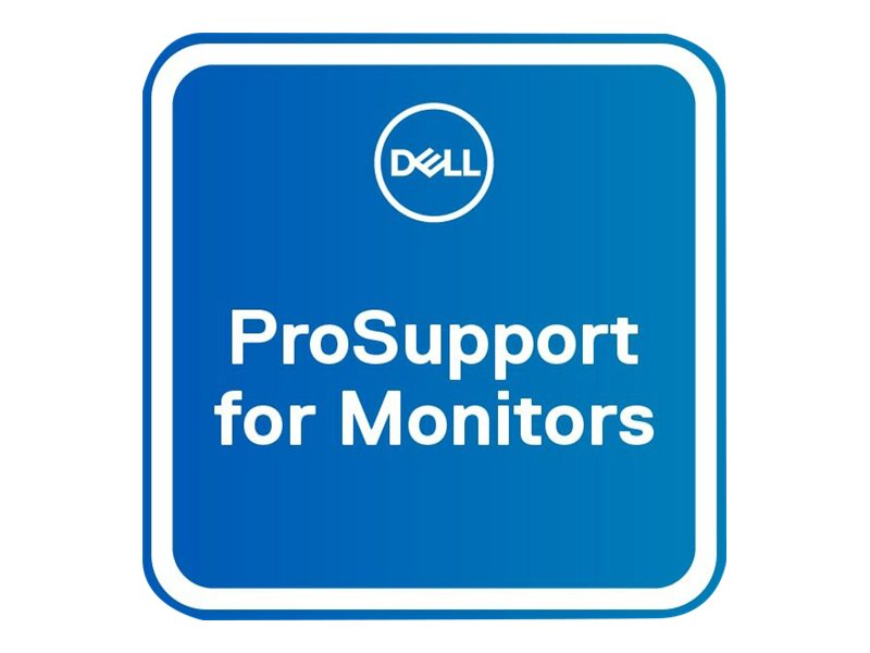 Dell Upgrade from 3Y Advanced Exchange to 3Y ProSupport for monitors - extended service agreement - 3 years - shipment