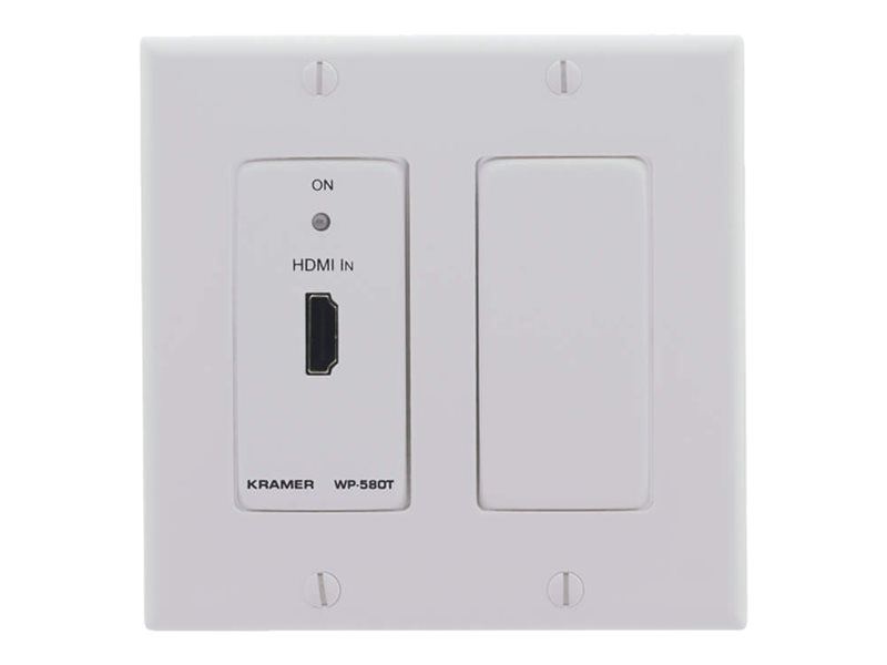 Kramer WP-580T(D) Active Wall Plate - HDMI over HDBaseT Twisted Pair Transmitter - video/audio extender - HDBaseT