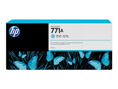 HP 771A 775 ml light cyan original DesignJet ink cartridge