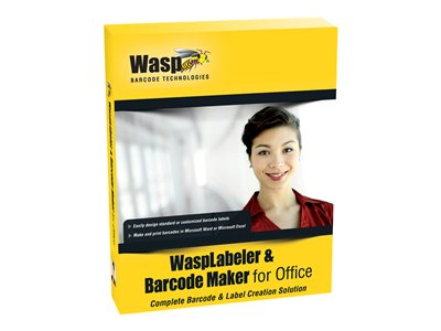 WaspLabeler & Barcode Maker for Office License 10 users Win