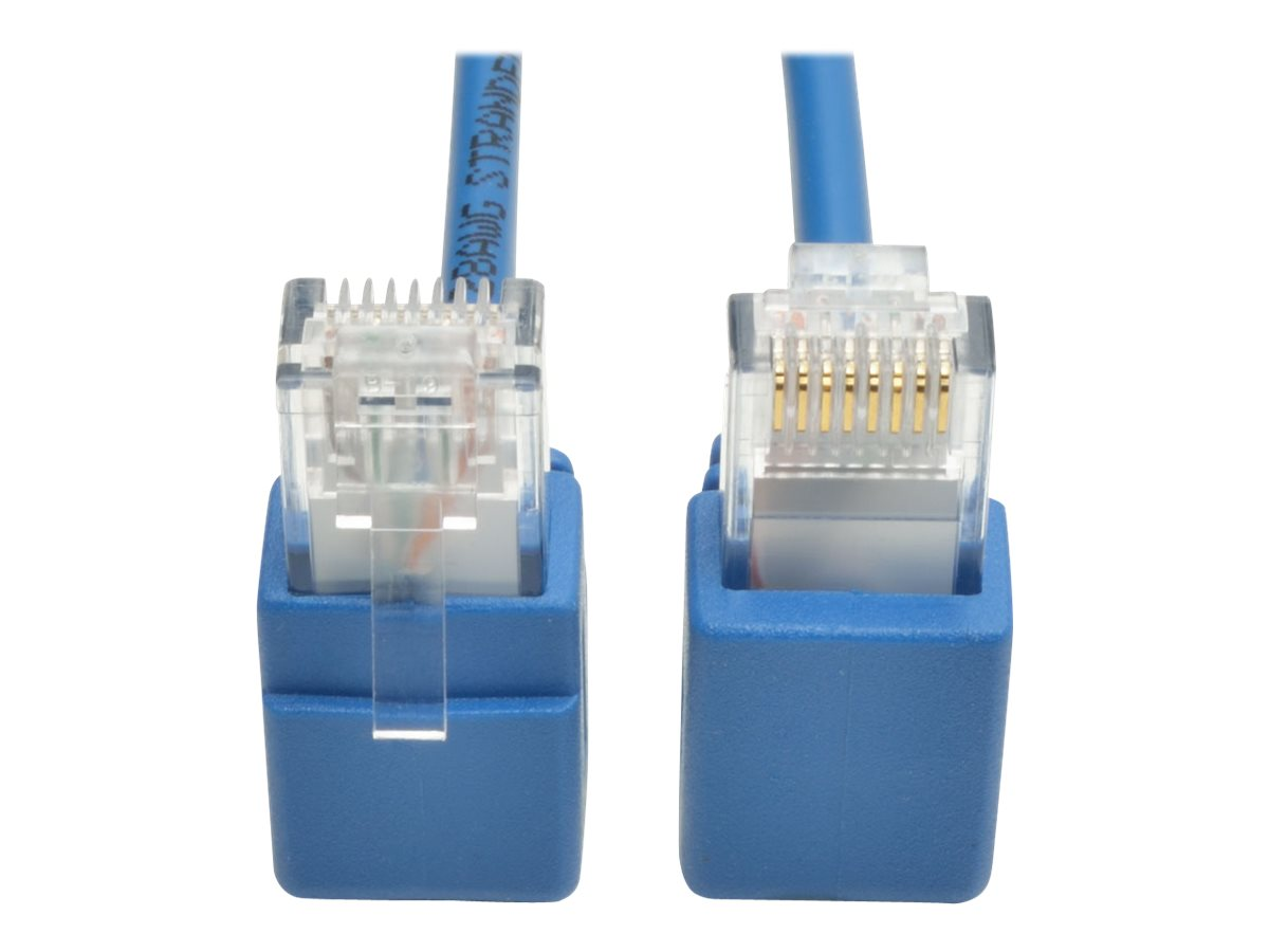 Tripp Lite Cat6 Gigabit Snagless Molded Slim UTP Patch Cable with Right-Angle Connectors - patch cable - 61 cm - blue