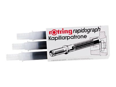 Rotring rapidograph - 3 Cartouches d'encre
