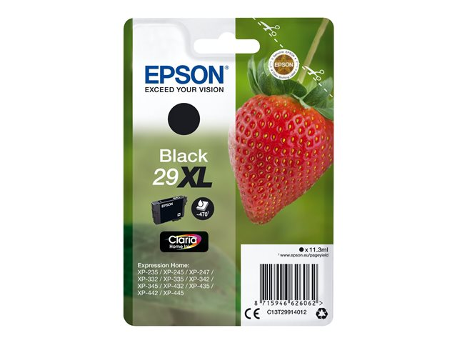 epson 29xl 11 3 ml xl noir originale blister. Black Bedroom Furniture Sets. Home Design Ideas