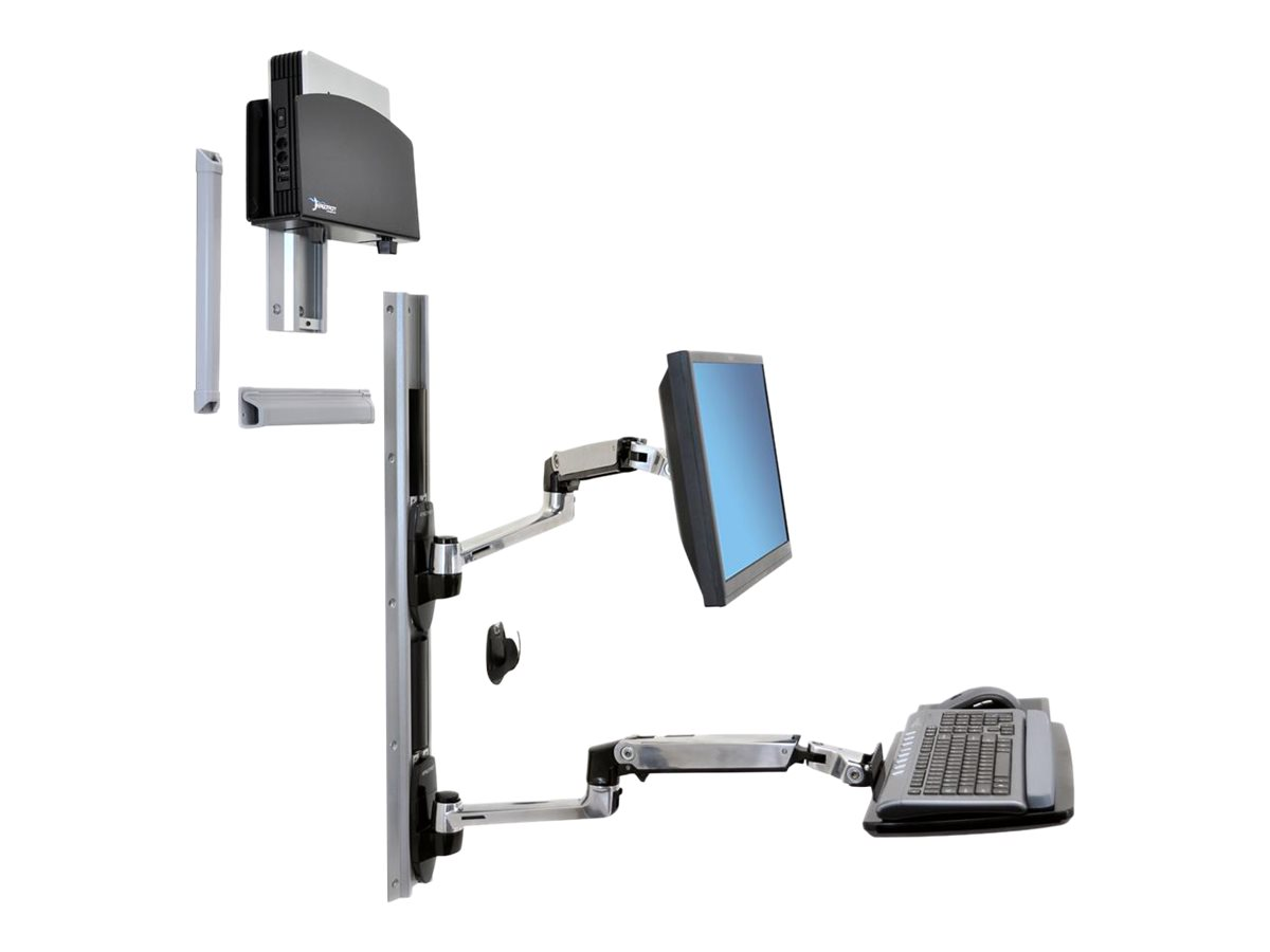 Ergotron LX Wall Mount System with Small CPU Holder - mounting kit
