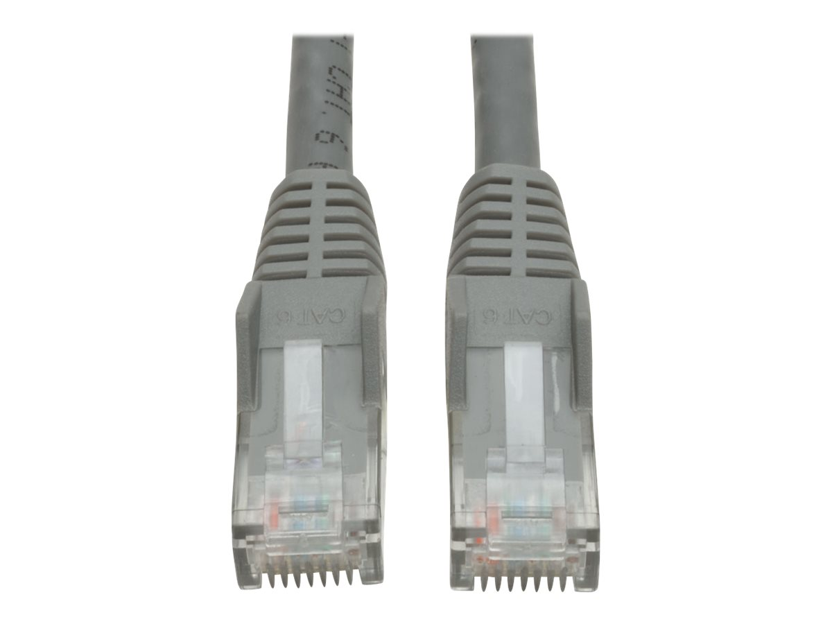 Tripp Lite 10ft Cat6 Gigabit Snagless Molded Patch Cable RJ45 M/M Gray 10' - patch cable - 3 m - gray