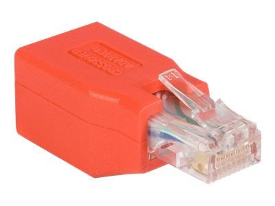StarTech.com Gigabit Cat6 auf Crossover Ethernet Adapter - Crossover-Adapter - RJ-45 (M) bis RJ-45 (W) - CAT 6 - Rot