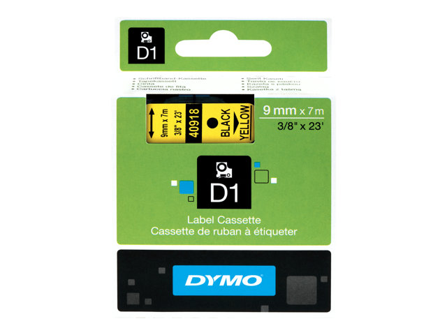 Image of DYMO D1 - label tape - 1 roll(s) - Roll (0.9 cm x 7 m)