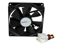 StarTech.com 92x25mm Dual Ball Bearing Computer Case Fan w/ LP4 Connector - System fan kit - 92 mm