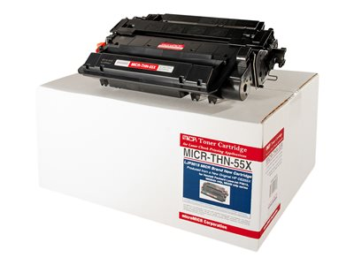 microMICR THN-55X New Max Yield black MICR toner cartridge (alternative for: HP CE255X)