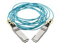 Tripp Lite QSFP28 to QSFP28 Active Optical Cable - 100GbE, AOC, M/M, Aqua, 5 m (16.4 ft.)