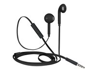 iStore Classic Fit Earphones with mic ear-bud wired 3.5 mm jack black