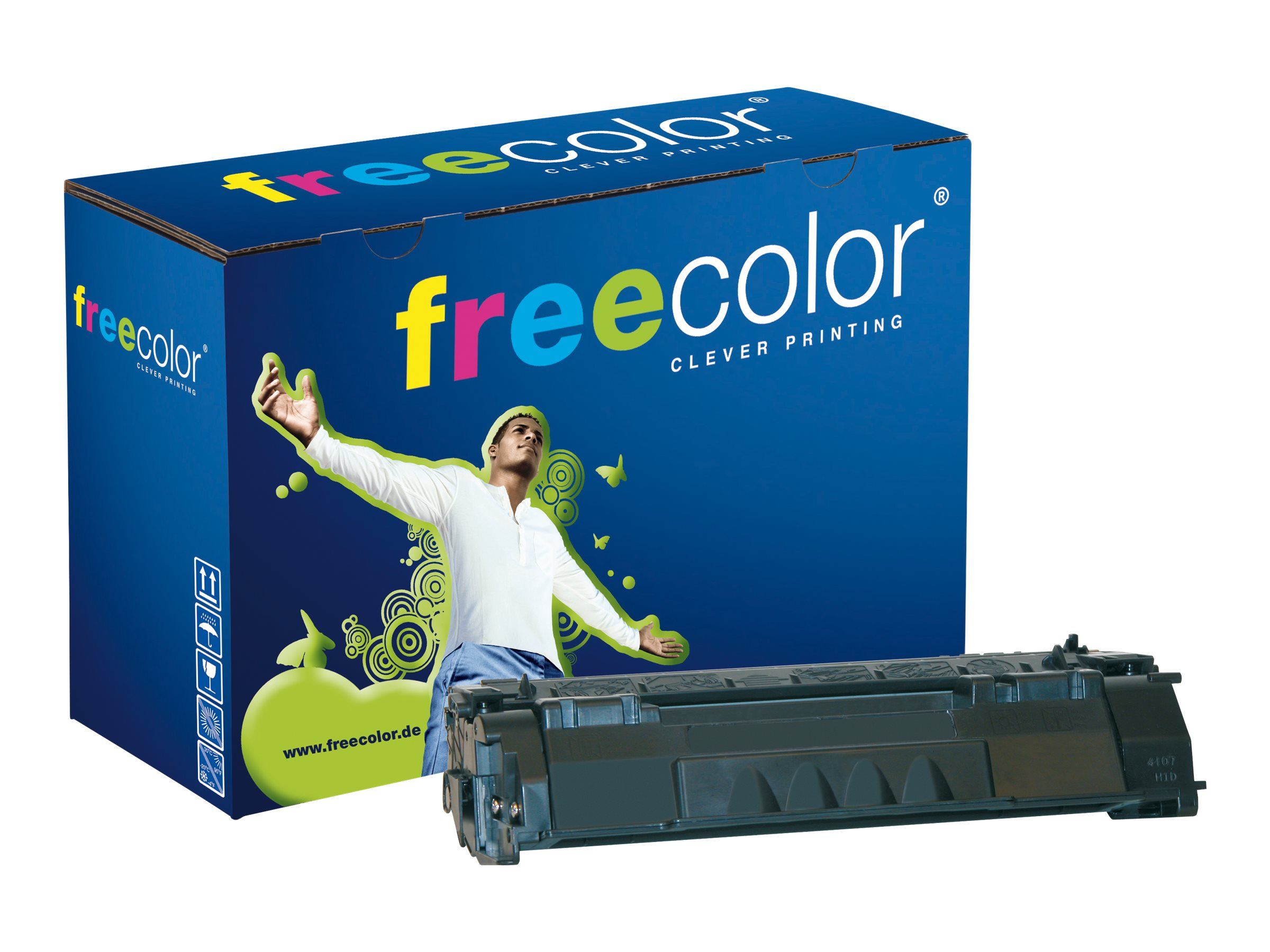 FREECOLOR - 140 g - Schwarz - Tonerpatrone (Alternative zu: HP 49A) - für HP LaserJet 1160, 1160Le, 1320, 1320n, 1320nw, 1320t, 1320tn, 3390, 3392