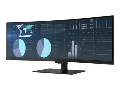 Lenovo ThinkVision P44w-10 LED monitor curved 43.4INCH (43.4INCH viewable) 3840 x 1200 VA