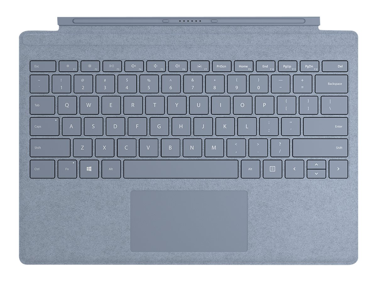 Microsoft Surface Pro Signature Type Cover - keyboard - with trackpad - QWERTY - US - ice blue