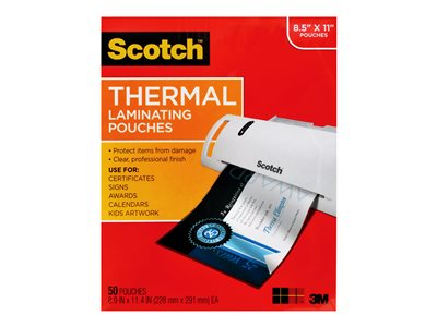 Scotch TP3854-20 Glossy 50-pack clear 8.98 in x 11.46