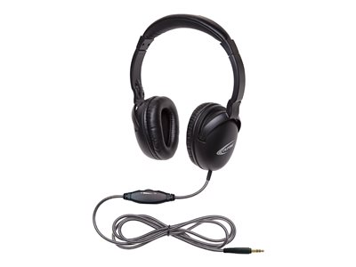 Califone NeoTech Plus 1017AV Headphones full size wired 3.5 mm jack matte bla