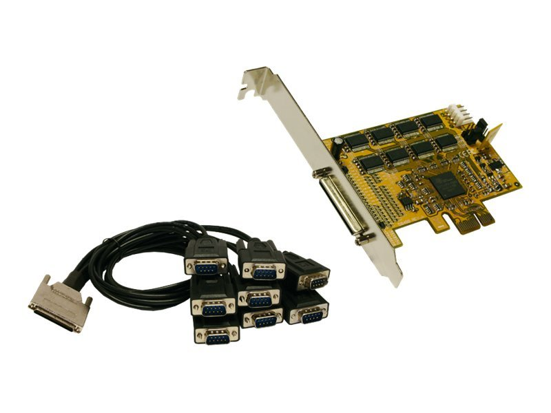 Exsys EX-44378 - Serieller Adapter - PCIe Low Profile - RS-232/V.24 x 8