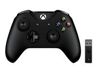 Microsoft Xbox Controller + Wireless Adapter for Windows 10 - Gamepad - sans fil - Bluetooth - pour PC, Microsoft Xbox One, Microsoft Xbox One S, Microsoft Xbox One X