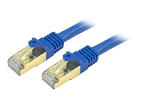 StarTech.com 7 ft Blue Cat6a / Cat 6a Shielded Patch Cable 7ft