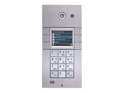 2N IP Vario 3x2 Buttons, Keypad, Display IP intercom station wired 10/100 Eth