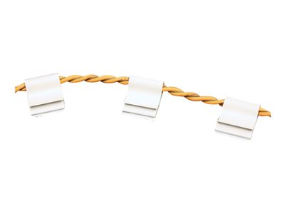 RLE Technologies J-Clips Cable clips white (pack of 200)