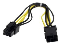 StarTech.com Cable d'extension d'alimentation PCI Express 6 broches 20 cm - Rallonge de câble d'alimentation - Alimentation PCIe de 6 broches (M) pour Alimentation PCIe de 6 broches (F) - 20 cm - noir