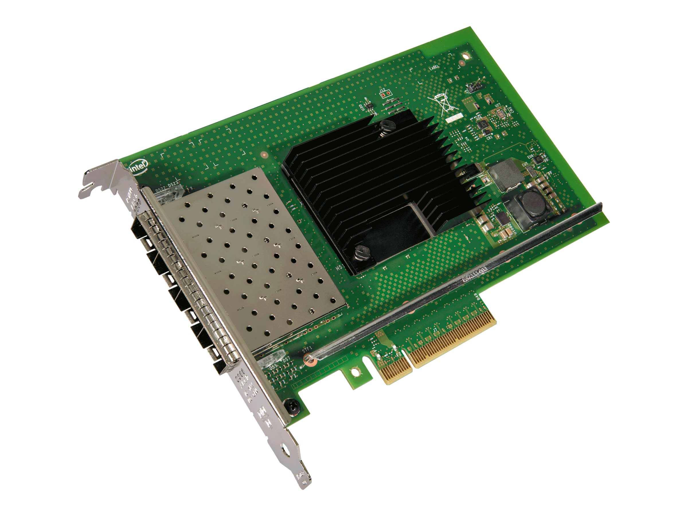 Intel 10Gigabit Ethernet Card for Server - PCI Express 3.0 x8 - 4 Port(s) - Optical Fiber - OEM