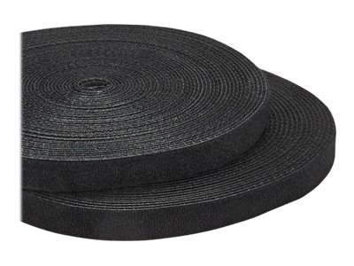 StarTech.com 100ft. Hook and Loop Roll - Cut-to-Size Reusable Cable Ties - Bulk Industrial Wire Fastener Tape - Adjustable Fabric Wraps - Black (HKLP100)