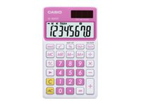 Casio SL-300VC Pocket calculator 8 digits solar panel, battery sweet pink