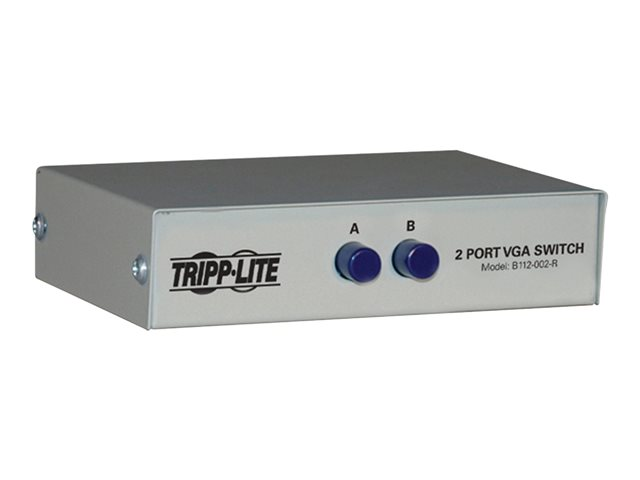 Tripp Lite 2-Port Manual VGA/SVGA Video Switch 3x HD15F Metal