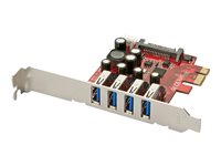 Lindy 4 Port USB 3.0 PCIe Card - USB-Adapter