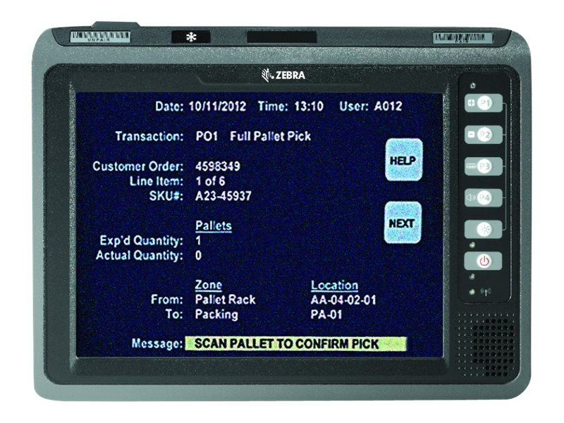 """Zebra VC70N0 - data collection terminal - Win Embedded Compact 7 - 2 GB - 10.4"""""""