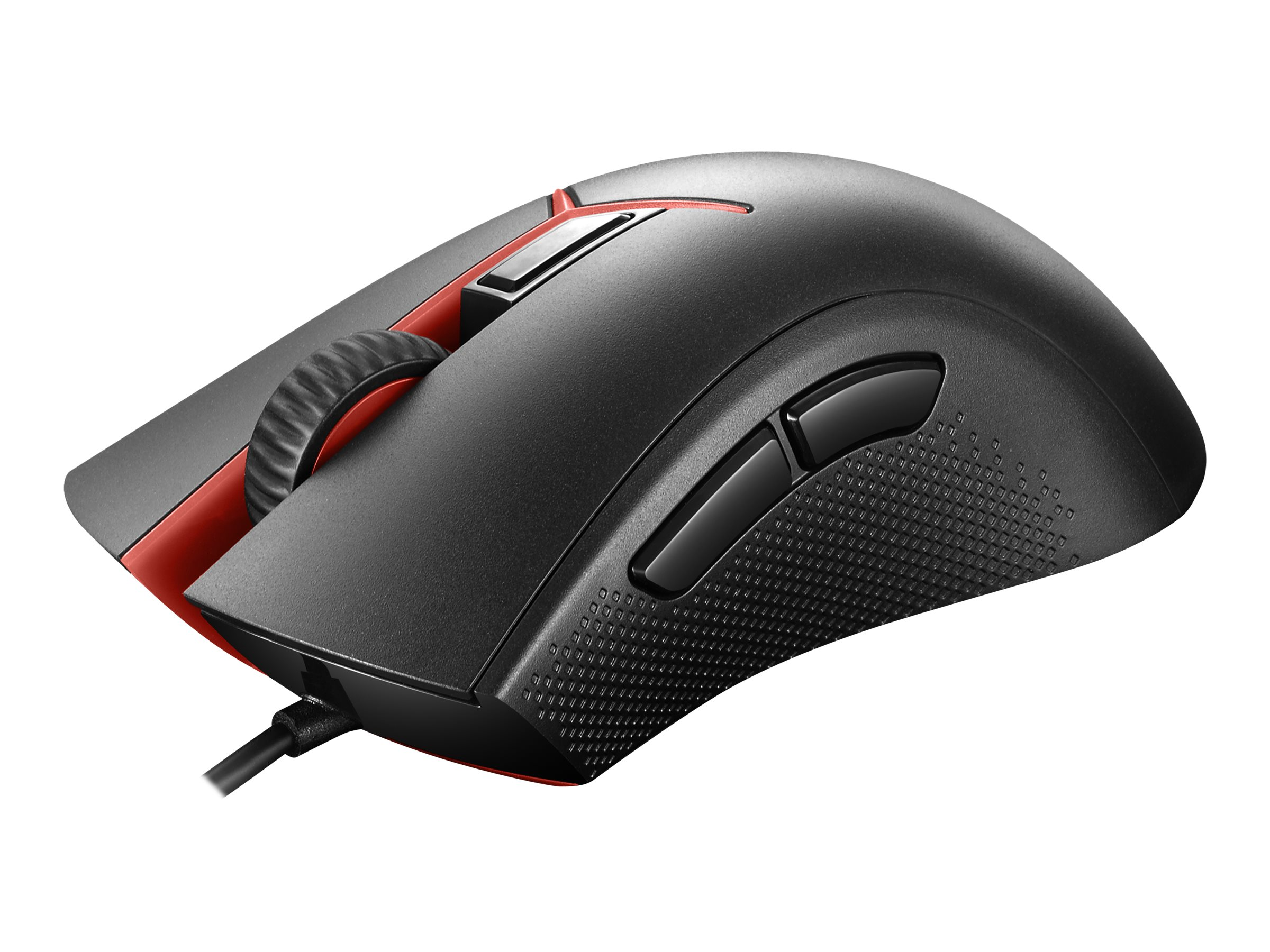 Lenovo Y Gaming - mouse - USB - matte black, pantone 179C