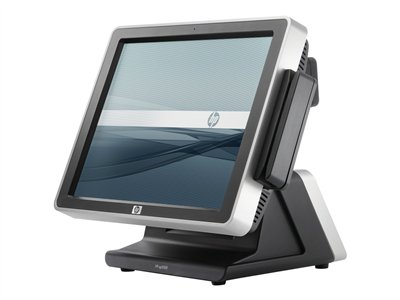 "HP Point of Sale System ap5000 - All-in-one - 1 x Core 2 Duo E7400 / 2.8 GHz - RAM 2 GB - HDD 2 x 250 GB - GMA 3000 - GigE - Win 7 Pro 32-bit - monitor: LCD 15"" 1024 x 768 (XGA)"