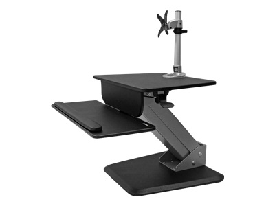 """StarTech.com BNDSTSPIVOT Sit-to-Stand Workstation with Single Monitor Mount - Mounting kit for LCD display screen size: 12""""-30"""" - desktop stand"""