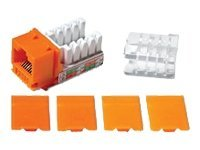C2G Cat6 RJ45 UTP Keystone Jack - Orange - modular insert
