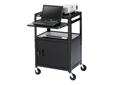 Bretford Basics Adjustable Projector Cart with Cabinet CA2642NS Cart for projector / notebook