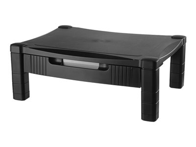 Kantek MS420 Single Level with Drawer stand for monitor / notebook / printer / fax black