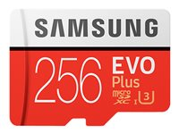 Samsung EVO Plus MB-MC256G - Flash memory card (microSDXC to SD adapter included)