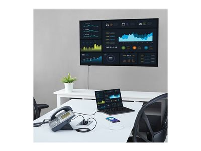 StarTech.com Conference Table Connectivity Pop up Box with AV and Data Ports - HDMI, VGA, DisplayPort to 4K HDMI Output (BOX4HDECP2)